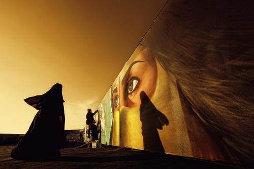 Wall of Burqa