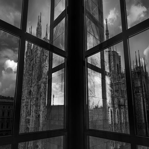 window on Milan